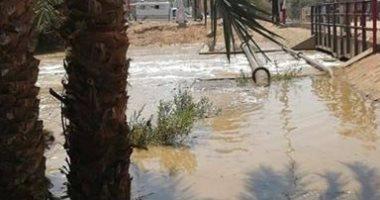 قارئ يشكو من كسر بماسورة الصرف الصحى بقرية بلانة محافظة أسوان