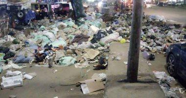قارئ يشكو من انتشار القمامة بشارع ساقية مكى بالمنيب جيزة