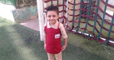 أول يوم مدرسة.. يوسف فى kg2 ويحلم بالهندسة