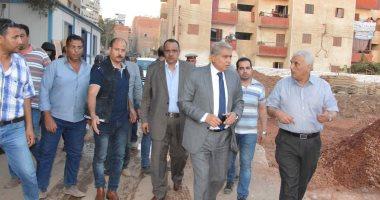 بتكلفة 77 مليونًا.. محافظ المنيا يتابع الأعمال الإنشائية لمدينة العمال