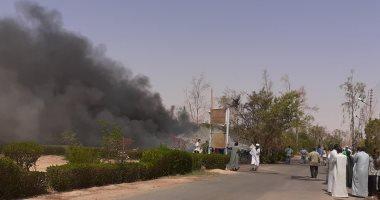 السيطرة على حريق شب بمركز بحوث المياه في مدينة أبو سمبل فى أسوان