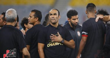 سوبر كورة.. شاهد كيف احتفل سيد عبد الحفيظ بهدف الأهلى القاتل أمام بيراميدز