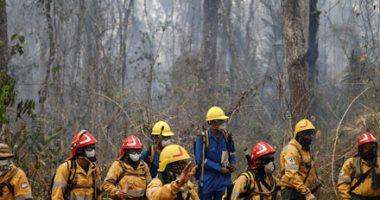 الجيش الأرجنتينى يواصل أعمال إطفاء حرائق غابات بوليفيا