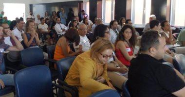 نجيب ساويرس وبشرى فى جلسة حول التكنولوجيا والإعلام على هامش فاعليات الجونة