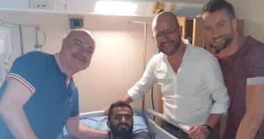 إسلام رشدى لاعب الجونة يجرى عملية الرباط الصليبى بنجاح
