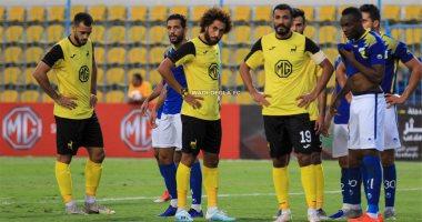 مروان حمدي يتقدم لدجلة علي الاتحاد في الدقيقة 16