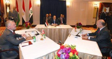 صور.. السيسى يعقد قمة ثلاثية مصرية- أردنية- عراقية بمقر إقامته بنيويورك