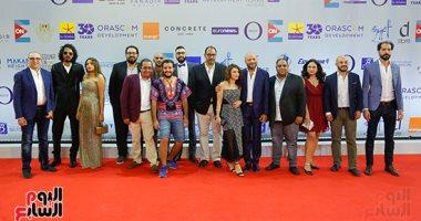 """نجوم الفن يحضرون العرض الأول لفيلم """"لما بنتولد"""" فى مهرجان الجونة السينمائى"""
