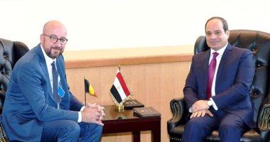 السيسى لرئيس وزراء بلجيكا: مصر مستمرة فى جهود مكافحة الهجرة غير الشرعية