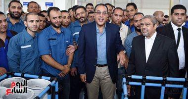 رئيس الوزراء يستهل زيارته لبنى سويف بزيارة مجمع مصانع العربى