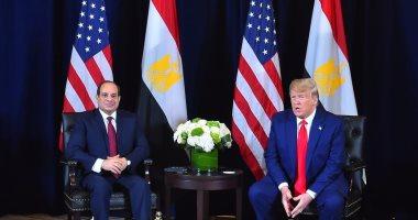"""السيسى لـ""""ترامب"""": الرأى العام فى مصر لا يقبل أن يحكمه الإسلام السياسى"""
