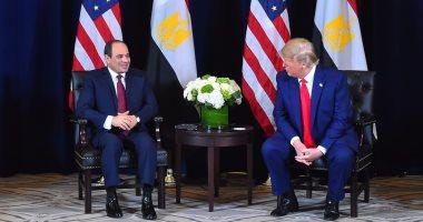 السيسى: الاجتماعات المتبادلة مع ترامب تعكس التفاهم الكبير بين البلدين
