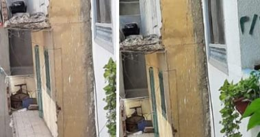 قارئة تشارك بصورة لمنزل مهدد بالانهيار بجوار إحدى المدارس فى دمياط