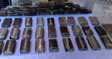 حُمص بالحشيش.. لحظة ضبط 4 أطنان من المخدرات بميناء الإسكندرية ..فيديو