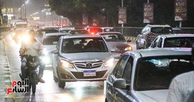 زحام مرورى أعلى كوبرى أكتوبر والبطل أحمد عبد العزيز