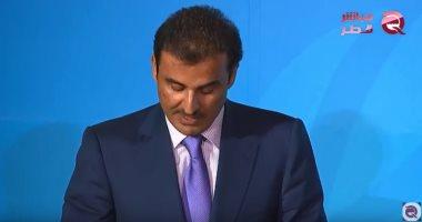 """شاهد.. """"مباشر قطر"""" تفضح نهب تميم ثروات القطريين وإهدارها من أجل تلميع صورته"""