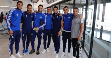 بعثة بيراميدز تغادر الجزائر عائدة إلى القاهرة بعد التأهل بالكونفدرالية..صور