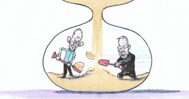 كاريكاتير إسرائيلى: الانتخابات النهاية المحتومة فى حال فشل نتنياهو فى تقديم تشكيل حكومته