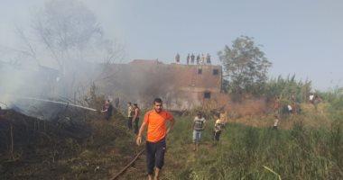 الحماية المدنية بالقليوبية تسيطر على حريق فى 5 منازل بكوم أشفين