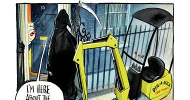"شبح ""تأجيل بريكست"" يطارد بوريس جونسون فى كاريكاتير ""صنداى تايمز"""