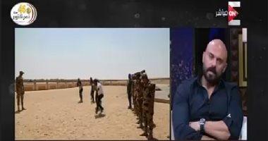 فيديو أحمد صلاح حسنى يكشف كواليس فيلم الممر وسبب إصابة