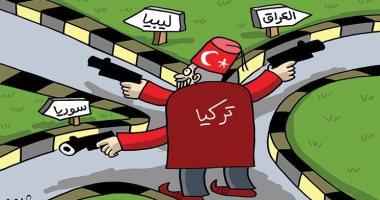 كاريكاتير الصحف الإماراتية.. تركيا تهدد السلام بكل من العراق وليبيا و سوريا