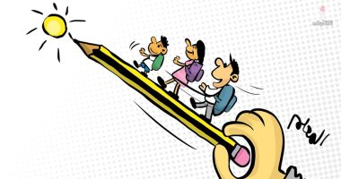 كاريكاتير الصحف الكويتية.. المعلم يأخذ الطلاب إلى نور العلم