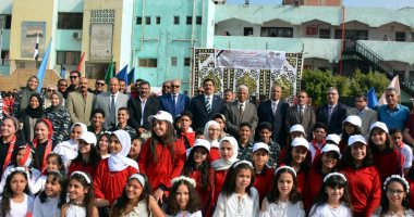 """صور.. محافظ القليوبية يشارك باحتفالية """"التربية والتعليم"""" بذكرى نصر أكتوبر"""
