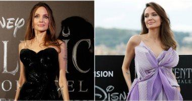 إطلالتان مختلفتان لأنجلينا جولى فى روما باللافندر والأسود.. صور