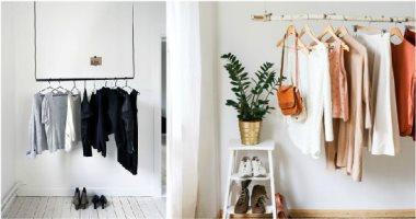"""15 فكرة بسيطة لتوفير مساحات لتخزين الملابس.. """"الدولاب راحت عليه"""""""