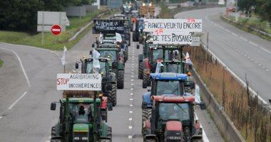 "مزارعون فرنسيون يتظاهرون بالجرارات  قرب ""ستراسبورج"""