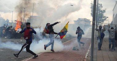 متظاهرون يقتحمون مبنى الجمعية الوطنية فى الإكوادور احتجاجا على إجراءات التقشف