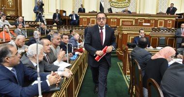 صور.. وصول رئيس الوزراء إلى البرلمان لإلقاء بيان الحكومة بالجلسة العامة