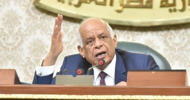 """صور.. رئيس البرلمان يحذر النواب من المتربصين بجلسة بيان الحكومة حول """"سد النهضة"""""""