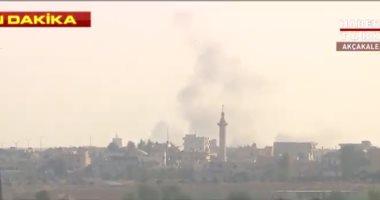 المدفعية التركية تبدأ العدوان على قواعد وحدات حماية الشعب الكردية السورية