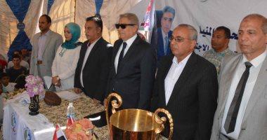 صور.. قوافل طبية وتوزيع مساعدات ضمن فعاليات برنامج تعزيز المواطنة بدير أبوحنس بملوى