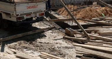 صور .. التصدى لـ4 حالات بناء مخالف والتحفظ على مواد البناء بلإسكندرية