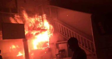 """""""أمن الاسكندرية """" يسيطر على حريق فى مدرسة خاصة بالسيوف"""