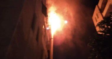 صورة السيطرة على حريق بشقة سكنية فى بنها بسبب اشتعال أسطوانة الغاز