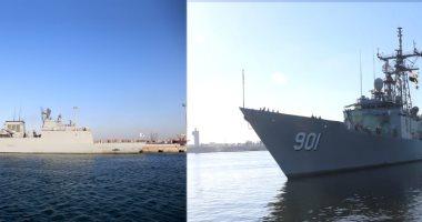 القوات البحرية المصرية والكورية الجنوبية تنفذان تدريبا عابرا بالبحر المتوسط