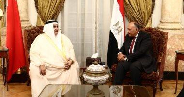 شكرى يبحث مع نظيره البحرينى التطورات الخاصة بالعدوان التركى على سوريا
