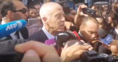 فيديو.. المرشحان لرئاسة تونس يدليان بصوتيهما فى الانتخابات