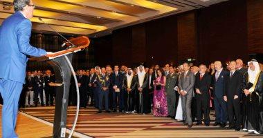 وزير التغير المناخى الإماراتى يحضر حفل السفارة الإسبانية بمناسبة اليوم الوطنى