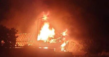 النيابة تعاين موقع حريق مصنع أخشاب بالسلام