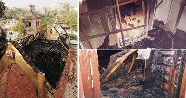 حريق كنيسة ماري جرجس-أرشيفية