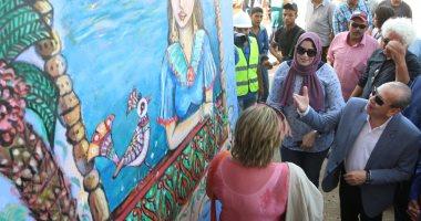 """محافظ كفر الشيخ: 40 فنانا يحولون جدران البرلس للوحة فنية وإبداعية """"صور"""""""