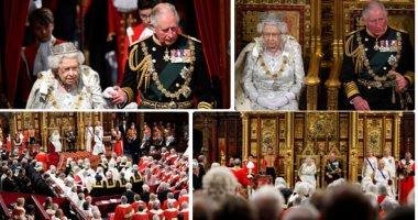 الملكة إليزابيث خلال حفل إفتتاح البرلمان فى لندن