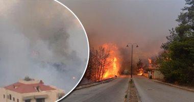 لبنان يحترق.. تجدد الحرائق ببلدة الشيخ محمد والدفاع المدنى يحاول السيطرة