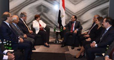 الدكتور مصطفى مدبولى رئيس الوزراء يلتقى رئيسة صندوق النقد الدولى