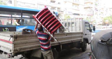 رفع 666 حالة إشغال طريق فى حملة مكبرة بشوارع طنطا